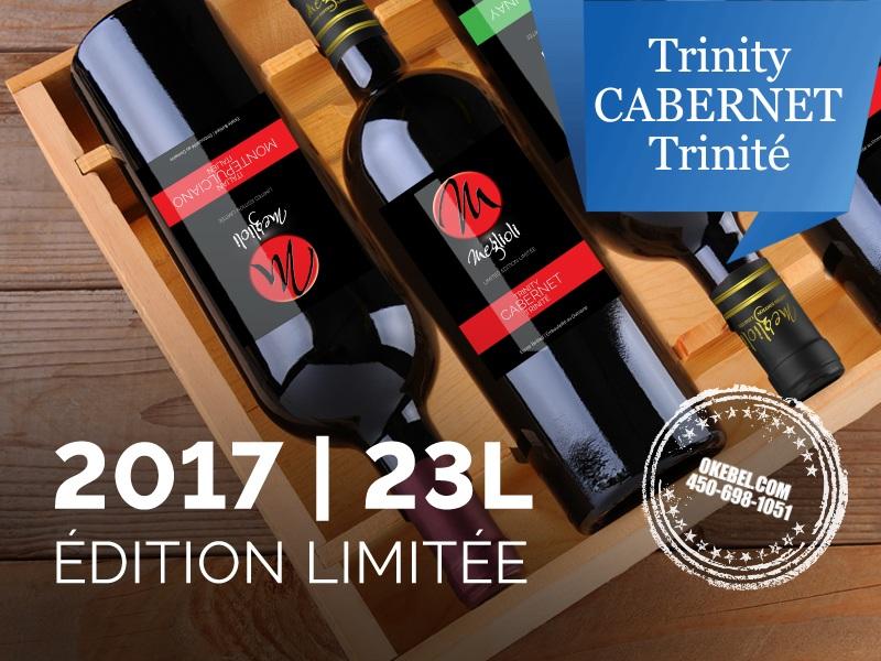 Kit à vin Pour fabriquer son vin maison Mosti Mondiale Meglioli Cabernet Trinité 23l. vin rouge Trinite. Donne 23L.