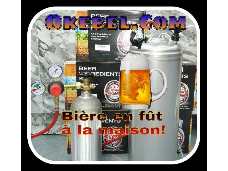 Kit pour bière en fût de base-(Keg-Kegging)-fut