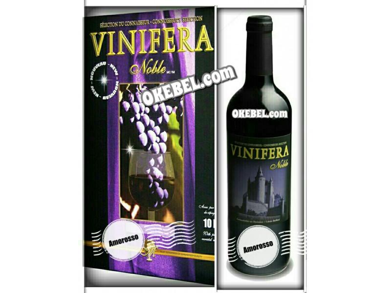 Kit à vin Pour fabriquer son vin maison Mosti Mondiale Vinifera Noble AMOROSSO 10l. vin rouge Donne 23L.