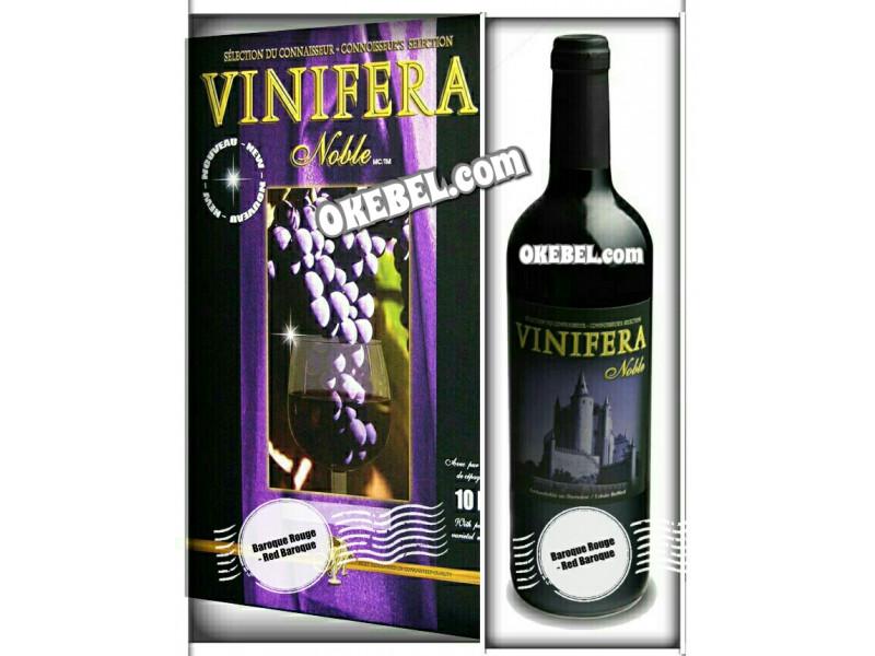 Kit à vin Pour fabriquer son vin maison Mosti Mondiale Vinifera Noble BAROQUE ROUGE 10l. vin rouge Donne 23L.