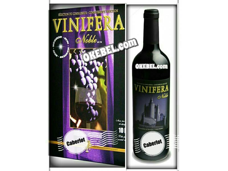 Kit à vin Pour fabriquer son vin maison Mosti Mondiale Vinifera Noble CABERLOT 10l. vin rouge Donne 23L.