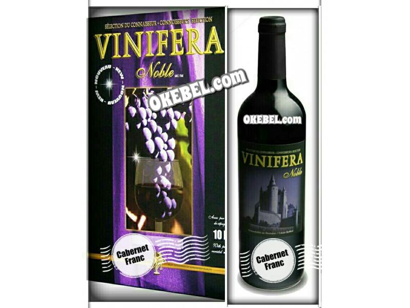 Kit à vin Pour fabriquer son vin maison Mosti Mondiale Vinifera Noble CABERNET FRANC 10l. Vin rouge Donne 23L.