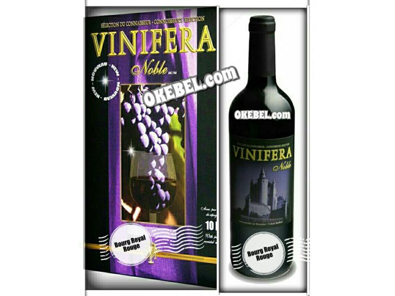 Kit à vin Pour fabriquer son vin maison Mosti Mondiale Vinifera Noble BOURG ROYAL ROUGE 10l. vin rouge Donne 23L.
