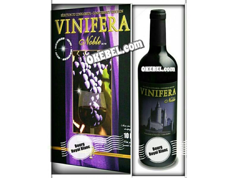 Kit à vin Pour fabriquer son vin maison Mosti Mondiale Vinifera Noble BOURG ROYAL BLANC 10l. vin blanc Donne 23L.