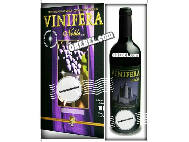 Kit à vin Pour fabriquer son vin maison Mosti Mondiale Vinifera Noble CHARDONNAY SEMILLION 10l. Vin blanc Donne 23L.